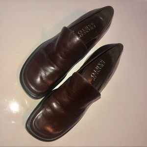 Franco Sarto brown dress loafers size 8.5